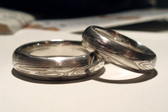 make your own wedding ring stock with a rolling mill mokume gane wedding rings made by our customer - Make Your Own Wedding Ring