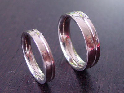 Make your own Wedding Rings Groovy Bands