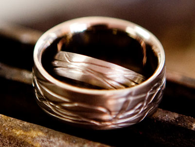 Make your own Wedding Rings Textured Bands